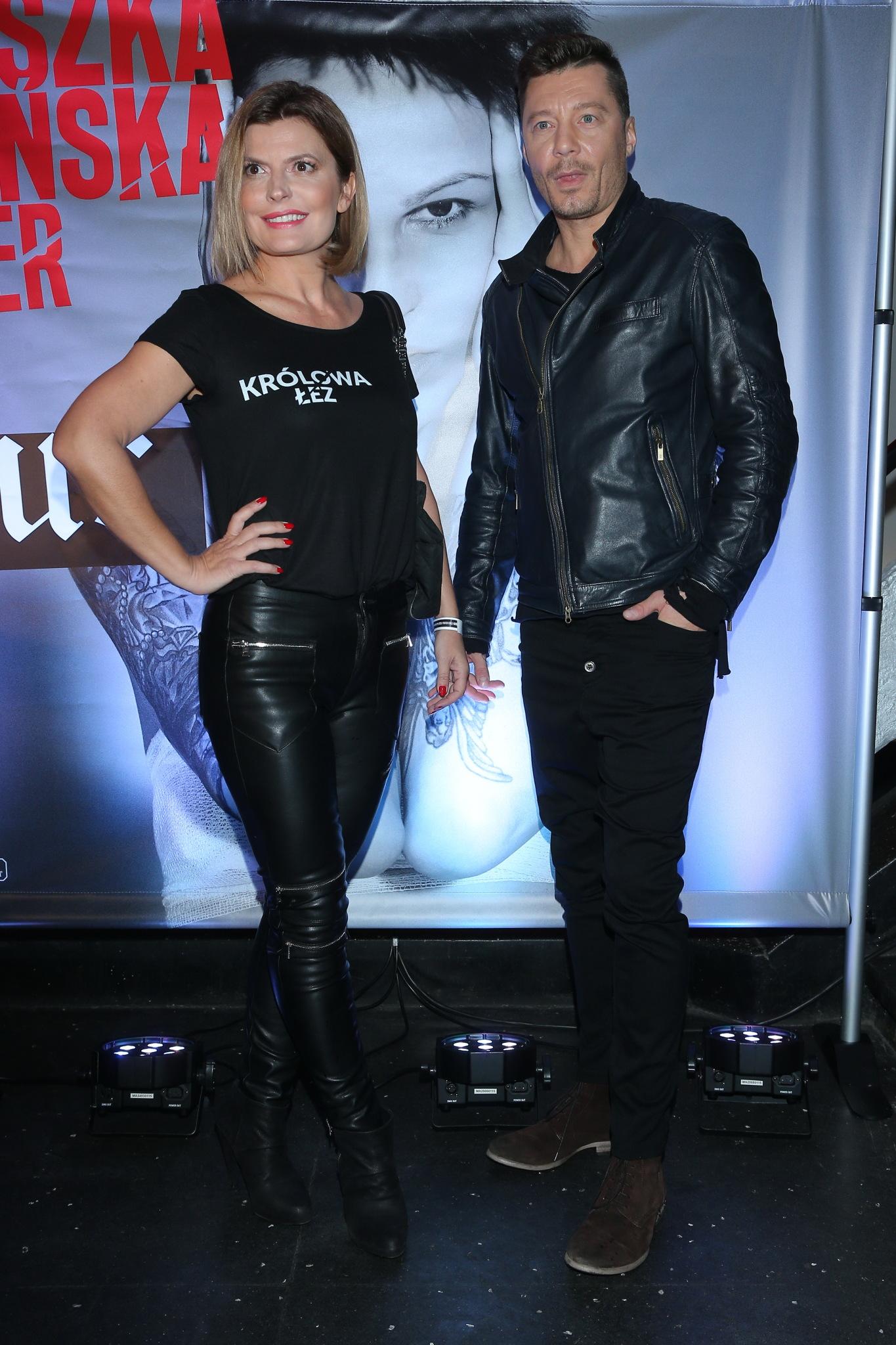 Justyna Tomańska i Mariusz Totoszko na koncercie Agnieszki Chylińskiej